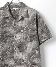 LAZAR/19SSアロハ リップル加工 総柄オープンカラーシャツ/502402515