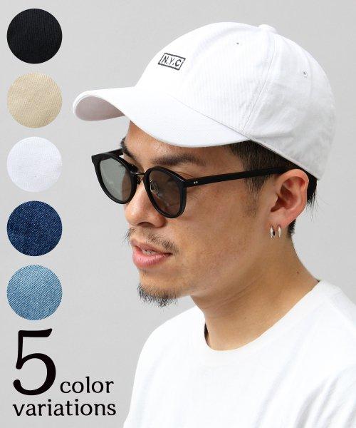 AMS SELECT(エーエムエスセレクト)/【HIDE TRADING/ヒデトレーディング】NYCボックスロゴ刺繍ローキャップ/HDT-003