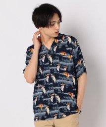 GLOSTER/ヨット柄アロハ オープンカラーシャツ/502429098