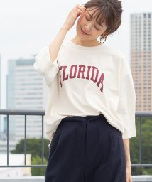 coen/インレイプリントTシャツ(7分袖カットソー)/502439597