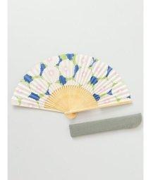 KAYA/【カヤ】和の香り ポピー紙扇子 袋付き 7HJP9204/502440220