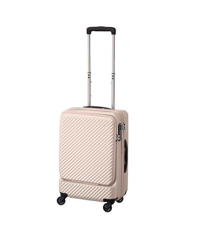 カバンのセレクション エース ハント マイン スーツケース 機内持ち込み Sサイズ フロントオープン ストッパー 34L HaNT 05744 ユニセックス ベージュ フリー 【Bag & Luggage SELECTION】
