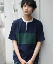 coen/USAコットン切替バンドカラーラガーシャツ/502432579
