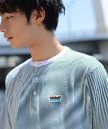 coen/SUNNY SPORTS(サニースポーツ)別注USAコットンヘンリーネックボーダーTシャツ/502432580