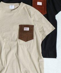 coen/【女性にもオススメ】SMITH別注コーデュロイポケットTシャツ/502442793