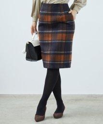 ROPE' PICNIC/【着丈が選べる】【WEB限定カラー:ブラック】ビッグチェックアイラインスカート/502443583