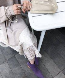 NOBLE/《予約》リバーレース Iラインスカート◆/502443610