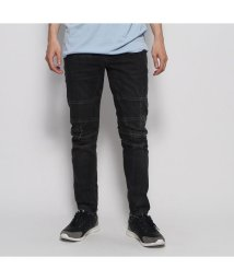 GUESS/ゲス GUESS SLIM TAPERED ZIP MOTO (ACE BLACK WASH W/ DESTROY)/502444651