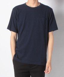 nano・universe/:ジャガードサッカーストライプTシャツ/502029606