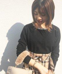MISCH MASCH/【美人百花10月号掲載】ジュエル刺繍ネックニット/502395188