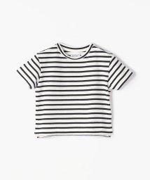 TOMORROWLAND BOYS & GIRLS/コットンボーダー バックプリントTシャツ/502446376