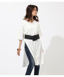 AZUL by moussy/SLIT V/N T DRESS/502447021
