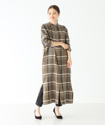 Demi-Luxe BEAMS/Demi-Luxe BEAMS / チェックシャツワンピース/502395483