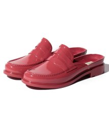 HUNTER/【訳あり】【国内正規品】BACKLESS GLOSS PENNY LOAFER/502426717