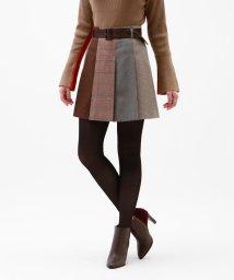 LOVELESS WOMEN/オーバーチェック ブロッキング スカート/502437859