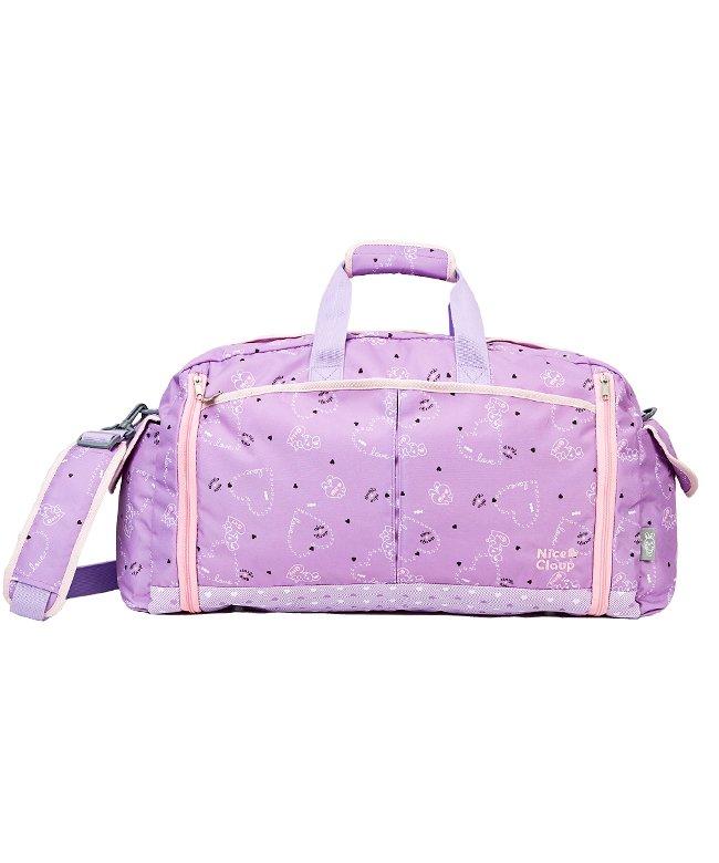 カバンのセレクション ナイスクラップ ボストンバッグ 46L 修学旅行 林間学校 女の子 女子 かわいい NICE CLAUP NC359 ユニセックス パープル フリー 【Bag & Luggage SELECTION】