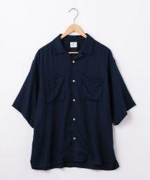 coen/コットンレーヨンビッグシルエットオープンカラーシャツ/502446357