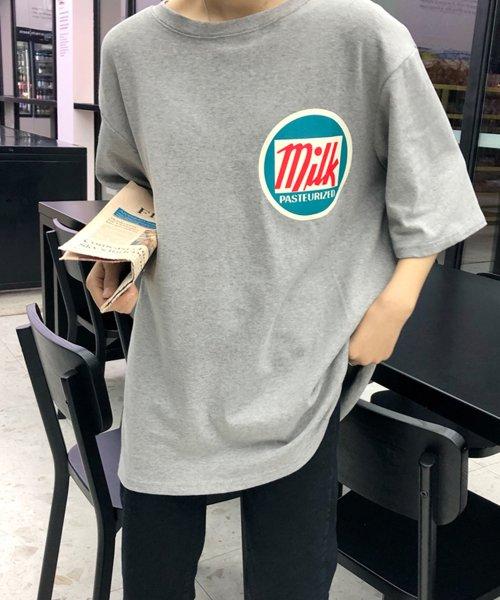 felt maglietta(フェルトマリエッタ)/オーバーサイズゆるかわBIGTシャツ/am206