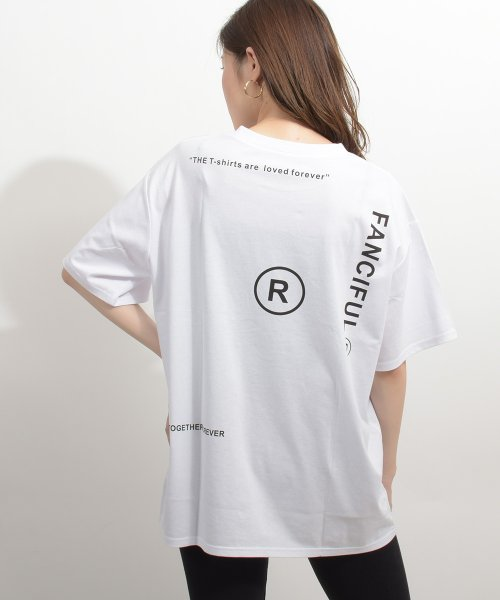 felt maglietta(フェルトマリエッタ)/英字ロゴオーバーサイズTシャツ/am218