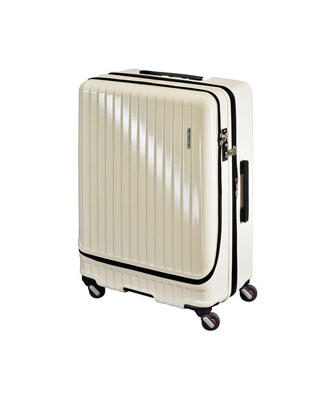 カバンのセレクション フリクエンター マーリエ スーツケース フロントオープン 拡張 86L/98L Lサイズ USB Malie 1 280 ユニセックス アイボリー フリー 【Bag & Luggage SELECTION】