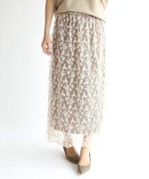 IENA/guegain コットンフラワースカート◆/502449099