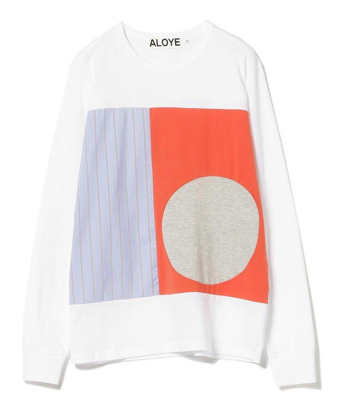 ALOYE × Ray BEAMS / 別注 ストライプ ロングスリーブ Tシャツ