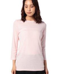 BENETTON (women)/袖ロゴ刺繍ボートネック7分袖Tシャツ・カットソー/502426976