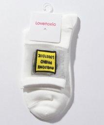 Lovetoxic/BOXロゴ透けクルーソックス/502439216