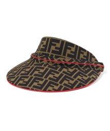 FENDI/FXQ630 A6NQ F0HEZ W VISOR HEADBAND FFロゴ サンバイザー 帽子 TOBACCO-STRAWBERRY レディース/502443717