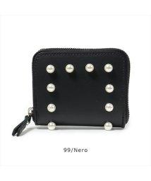 LAURA DI MAGGIO/7160 レザー パール装飾 二つ折り財布 カラー2色 レディース/502443939