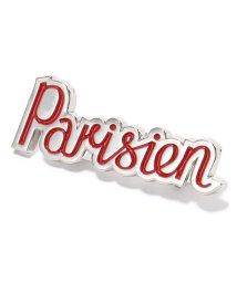 MAISON KITSUNE/BM06609AZ1001 PARISIEN BROOCH パリジャン ブローチ RED/レッド ユニセックス メンズ/502443948