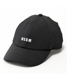 MSGM/ML05 ロゴ ベースボールキャップ 帽子 スポーツ 99/ブラック ユニセックス/502444032