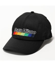 MSGM/ML07 ロゴ刺繍 コットン ベースボールキャップ 帽子 スポーツ 99/ブラック ユニセックス/502444034