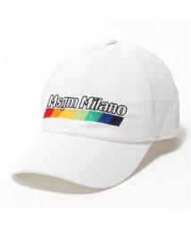 MSGM/ML07 ロゴ刺繍 コットン ベースボールキャップ 帽子 スポーツ カラー01/ホワイト ユニセックス/502444035