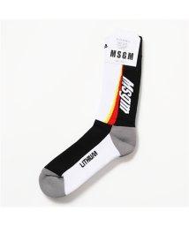 MSGM/MS01 ロゴ ハイソックス 靴下 18 メンズ/502444038