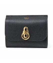 Mulberry/RL5229 690 A100 Amberley Medium Wallet アンバーリー レザー 二つ折り ミディアム財布 Black レディース/502444051