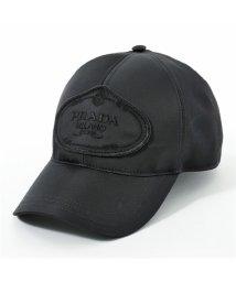 PRADA/2HC143 820 F0002 ナイロン ベースボールキャップ 帽子 ロゴ刺繍 NERO ユニセックス メンズ/502444142