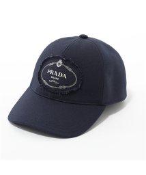 PRADA/2HC274 010 F0216 コットン ベースボールキャップ 帽子 ロゴプリント BALTICO ユニセックス メンズ/502444143