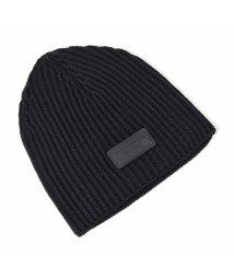 PRADA/UMD372 IZH F0002 ウール ニット帽 ニットキャップ リブ 帽子 ビーニー NERO メンズ/502444158