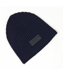 PRADA/UMD372 IZH F0008 ウール ニット帽 ニットキャップ リブ 帽子 ビーニー BLEU メンズ/502444159