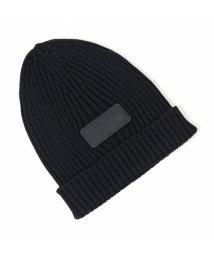 PRADA/UMD429 U97 F0002 ウール ニット帽 ニットキャップ リブ 帽子 ビーニー NERO メンズ/502444160