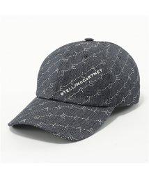 Stella McCartney/558052 W8461 4061 モノグラム コットン ベースボールキャップ 帽子 ロゴ刺繍 レディース/502444305