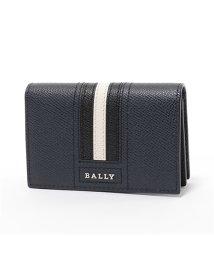 BALLY/ TYKE LT 17 レザー 名刺入れ カードケース 名刺入れ NEW-BLUE メンズ/502444474