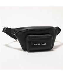 BALENCIAGA/552375 DLQ4N 1000 エブリデイ ロゴ ベルトバッグ レザー ボディバッグ BLACK ユニセックス メンズ/502444477