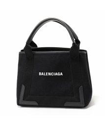 BALENCIAGA/390346 AQ38N 1000 NAVY CABAS XS AJ キャンバス トートバッグ ショルダーバッグ BLACK/BLACK レディース/502444489