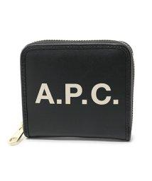 A.P.C./APC PUAAJ F63227 compact morgane LZZ ラウンドファスナー ミニ財布 二つ折り NOIR ユニセックス レディース/502444512