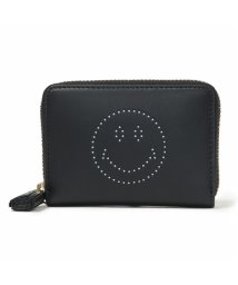 ANYA HINDMARCH/947916 5050925947916 Small Zip Round Wallet Smiley ミニ財布 コインケース BlackCircus/502444517