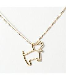 ALIITA/PERRITO FABRIC クリスタル ストーン 犬 ネックレス ペンダント アクセサリー 9KT/YELLOWGOLD-WHITE DIAMOND/502444529
