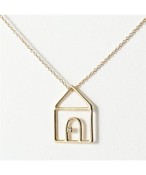 ALIITA(アリータ)/CASITA BRILLANTE NECKLACE WITH WHITE DIAMOND 家 モチーフ ネックレス ペンダント 9KT-YELLOWGOLD/290119318