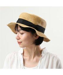 abu/NH 068 カンカン帽 ペーパーハット 帽子 折り畳み可能 BLACK レディース/502444539